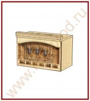 Шкаф-ниша над вытяжкой Кухня Глория 3 Модуль 03.15