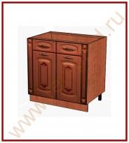 Стол с колоннами Кухня Глория 6 Модуль 06.63.2
