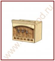 Шкаф-ниша над вытяжкой Кухня Глория 3 Модуль 03.13