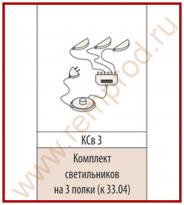 Комплект светильников для Модуля 33.04 Гостиная Мокко