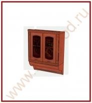 Шкаф-витрина с колоннами Кухня Глория 6 Модуль 06.11