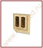 Шкаф-витрина с колоннами Кухня Глория 3 Модуль 03.11