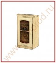 Шкаф-витрина лев./пр. Кухня Глория 3 Модуль 03.04
