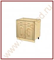 Стол с колоннами Кухня Глория 3 Модуль 03.63.2
